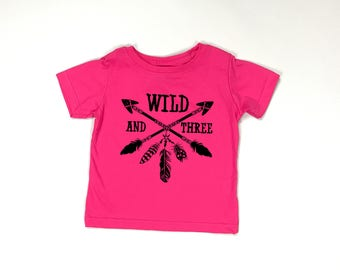 Wild and Three, I am Three, Young wild and three, 3rd birthday shirt, third birthday, girl birthday shirt, boy birthday shirt, threenager