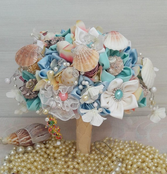 Seashell Bouquet Beach Wedding Sea Shell Bridal