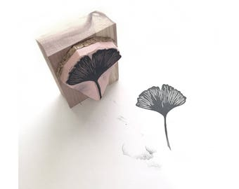 Ginkgo Leaf Rubber Stamp | 018105