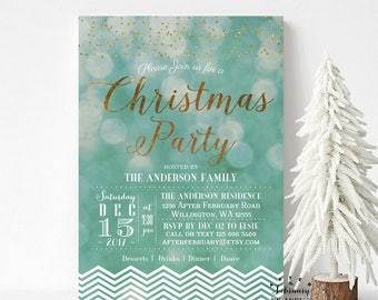 Christmas Party Invitations Printable Holiday Party Invitation Printable Company Christmas Party Invitations Digital Printable  No.655XMAS