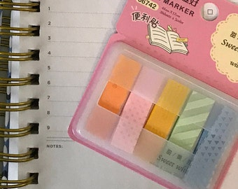 Translucent Pastel Page Flags