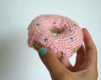 Crochet Donut,Photo Prop, Baby Gift, Police Donut Prop, Donut Pin Cushion, Nursery Decor, Bakers gift, Party Favor, Gift for Quilters
