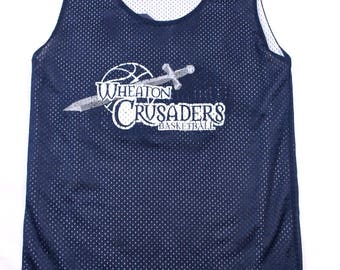 Rare Wheaton College Crusaders Mens S basketball practice jersey Illinois IL