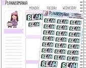 Blah Stickers Word Stickers Planner Stickers Planner Accessories Pastel Stickers 684