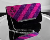 Cheshire Cat Inspired Glitter Handbag Clutch