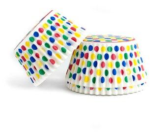 Circus Polka Dot Cupcake Liners // Polka Dot Baking Cups (Qty 50)