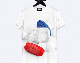 Drug Money T-Shirt - Dye Sublimation - Unisex Streetwear - XS, S, M, L, XL, XXL | Made to Order |