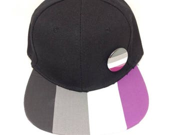 Asexual Ace Pride Snapback Hat LGBTQ+ Asexual Pride Asexuality LGBTQA Pride Parade Asexual Hat Asexual Pride Hat The A Stands for Asexual