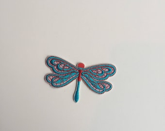 Dragon fly iron on patch