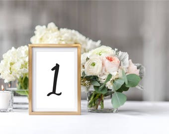 """Printable Table Number Cards 