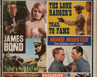 SCREEN THRILLS ILLUSTRATED 10,James Bond, 007,Lone Ranger,Beatles,Three Stooges,Rare Warren Movie Magazine,Comics,SpyFi,Forrest J Ackerman