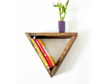 Floating Shelves | Triangle Shelves | Rustic Wall Decor | Floating Shelf | Modern Shelves | Wood Shelves | Rustic Shelf | Triangle Shelf