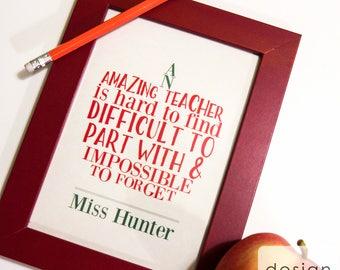 Printable Teacher Retirement Gift - Best Teacher Gift - Teacher Appreciation - Teacher Appreciation Art - Personalized Retirement Gift