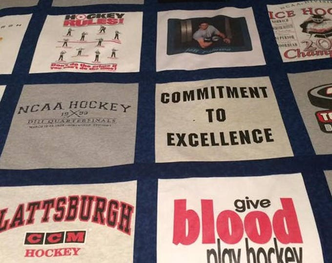 T-shirt Quilt, custom quilt, DEPOSIT ONLY, custom made from clothing, Custom t-shirt quilt, Graduation Gift, Unique Gift