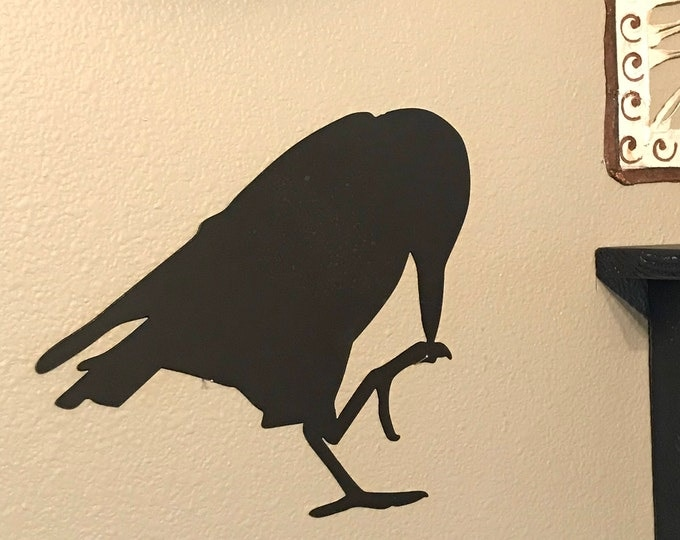 Black Bird, Bird Sign, Raven, Farmhouse Decor, Rustic Signs, Rustic Metal Signs, Rustic Decor, Farmhouse Signs, Garden Signs, Metal Signs
