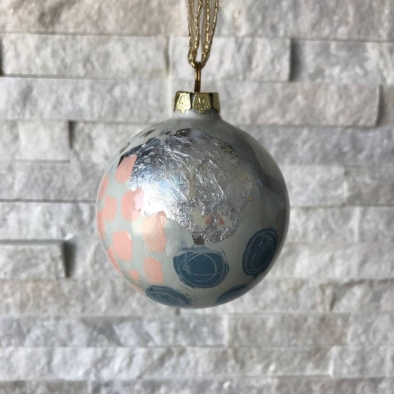 """Christmas Ornament- """"silver and gold"""" - Free Shipping"""
