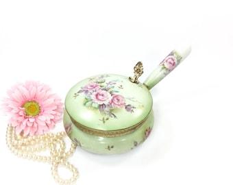 Lefton Heritage Porcelain Silent Butler, Porcelain Crumb Catcher, Lefton Silent Butler, Victorian Decor #B056