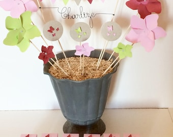Cake Toppers name windmill Butterfly Decoration