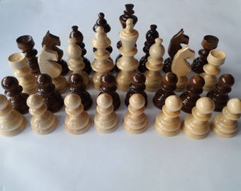 New big,huge beautiful,special hand spindled wooden chess pieces set,King is 4.72 inch or 12 cm