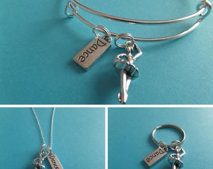 Dancer necklace, dancer gift, novelty gift, dancer jewelry, ballet necklace, xmas gift, love to dance, ballerina gift, sandykissesuk