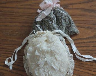 Gorgeous Antique/Vintage Lace Drawstring Purse/Bag