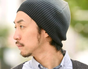 Gradient Beanie 100% Cotton - Unique Design - Unisex Watch Cap Knit Hat All Season - For Men & Women - KOREAN Fashion - K-pop Idol - be-cgd