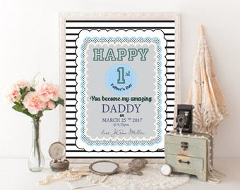First Fathers Day Personalized gift from son Printable Fathers Day gift idea - Printable File only