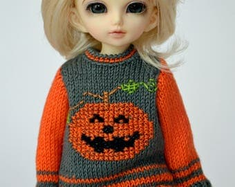 Knitted sweater and socks for Yosd, Littlefee, 1/6 Bjd dolls.