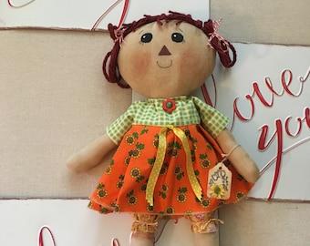 Fall Raggedy Annie-Primitive Raggedy Ann Dolls                     (FAAP)