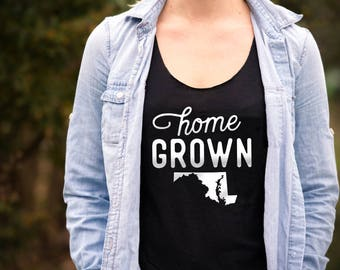 Home Grown Marylander - Women's Tank Top - Maryland Apparel
