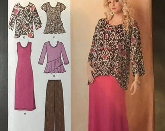 Simplicity 1622 - Blouse, Tunic, Dress and Pants - Size 20W 22 24 26 28W
