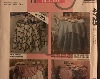 McCalls 4725 - 1980s Home Dec in a Sec Tableskirts