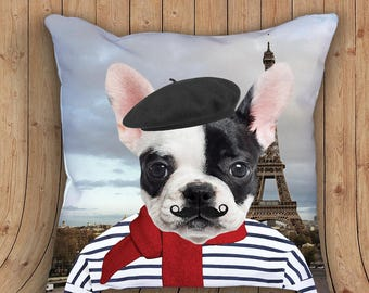 French bulldog pillow - funny pillow dog lover pillow