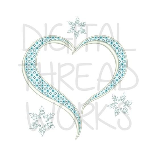 Congelado helado copo de nieve marco máquina bordado diseño patrón ...