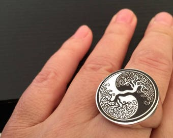 Family Crest ring, Personalized Ring, Signet Ring, college ring, Crest engrave ring, graduation ring, round seal ring, sterling silver  ring