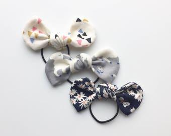 Organic Baby Hair Tie Set, Baby Girl Hair Tie, Baby Headband, Toddler Hair Tie, Baby Gift, Set of 3 Organic Baby Hair Ties