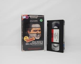 Pee-wee's Big Adventure - VHS - 1985 - Custom designed 1980's Horror Movie Clamshell Case & Artwork - OOAK