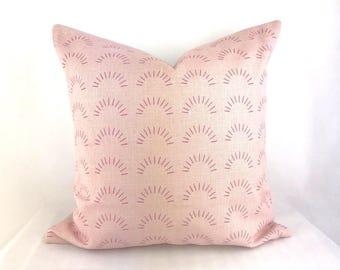 Blush pink cushion, dusky pink scandi cushion, scandi blush cushion, blush pattern cushion, dusky pink cushion cover, blush throw pillow