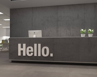 Hello, Office, Wall, Art, Decor, 3D, PVC, Typography, Inspirational, Motivational, Work, Sucess, Decals, Stickers - SKU:Hello