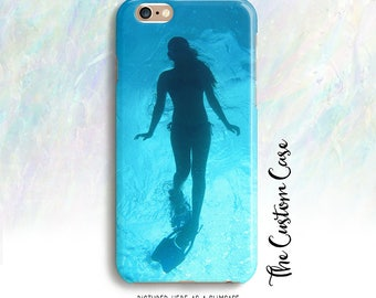 Snorkeling Iphone Case, Diver Iphone Case, Original Photography Iphone Case, Tropical Iphone Case, for Iphone and Samsung cases