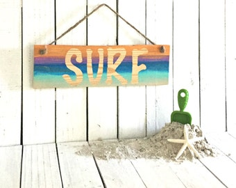 Surf Sign, Surf Decor, Here's Your Sign, Wood Word Art, Surf Art, Surfing Sign, Sunset Sign, Beach House Decor,Wood Beach Sign,Coastal Decor