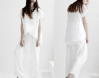 Loose white pants/ casual pants/ harem pants