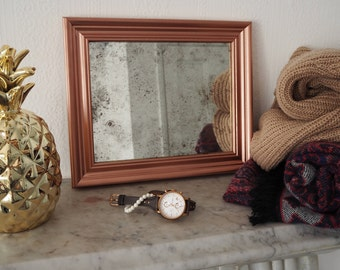 Gold Frame Mirror, Gold Frame Wall Decor, Vintage Mirrors Small, Antique Mirror Shop, Distressed Mirror Glass, Antique Silver Mirror, Mirror