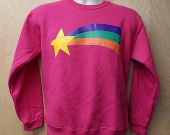 Mabel Pines Youth Sweatshirt Halloween Costume Cosplay Rainbow Star Sweater Jumper Child Sizes Kids TV Show Girls Gift Idea