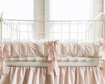 Crib Set Girl - Pink Crib Bedding Set - Crib Bumpers Girl - Crib Bumpers - Pink Girl Bedding - Baby Girl Crib Set - Baby Girl Bedding Set