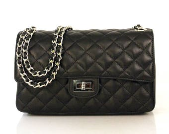 Quilted chanel bag | Etsy : chanel bag black quilted - Adamdwight.com