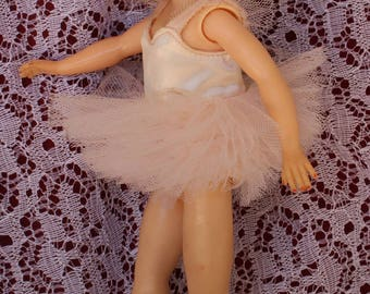"""Vintage Jane Miller ballerina Tutu for your 10.5""""-11"""" Fashion dolls Like Little miss revlon, Jill  and friends ~ Pale pink Lusciousness !"""