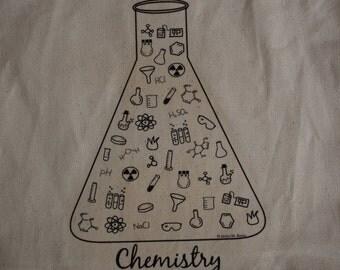 Chemistry Tote Bag, Science Teacher Bag, Canvas Tote- Chemistry Doodles