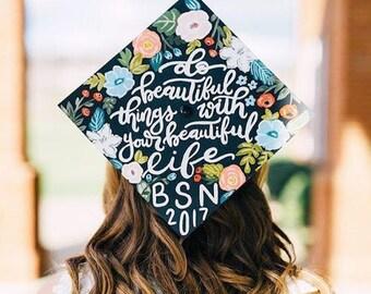 Custom Graduation Cap, Graduation Cap, Personalized Graduation Cap, Graduation Topper