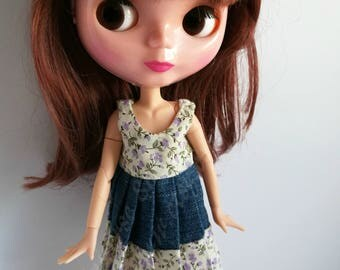 Handmade dress for Blythe and Momoko dolls